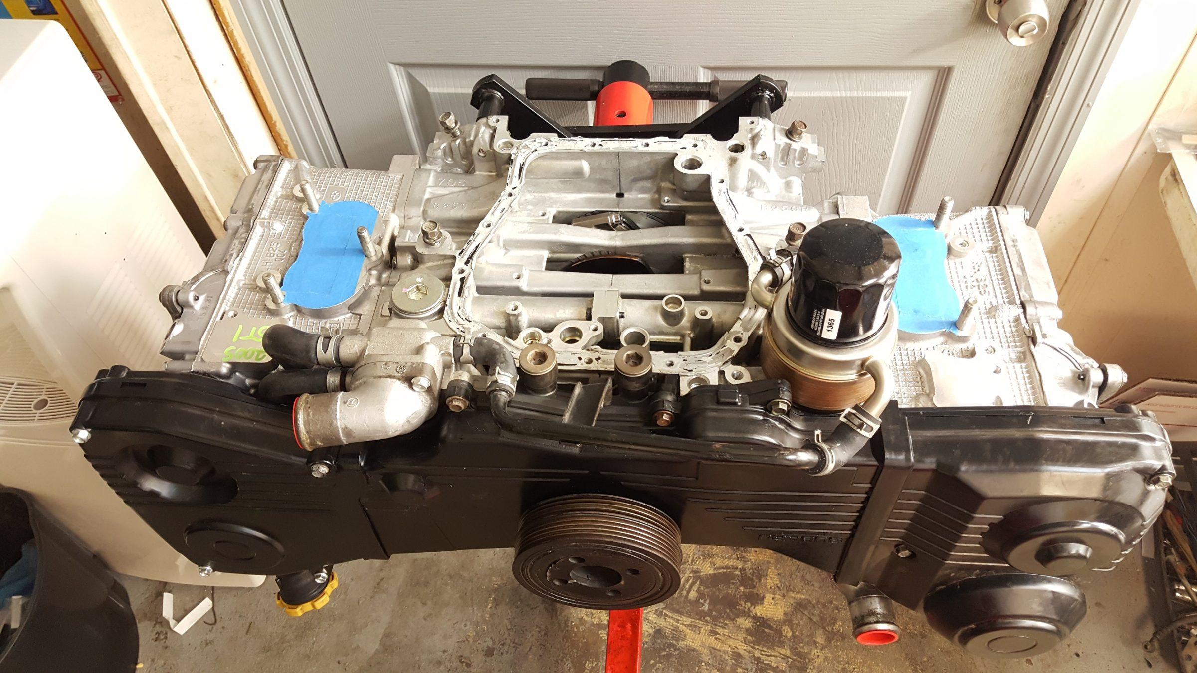 06-14 SUBARU WRX / 04-07 STI / 04-08 FXT/LGT RALLISPEC BUILT LONG BLOCK  ENGINE (FORGED INTERNALS) W/ 1K MILES