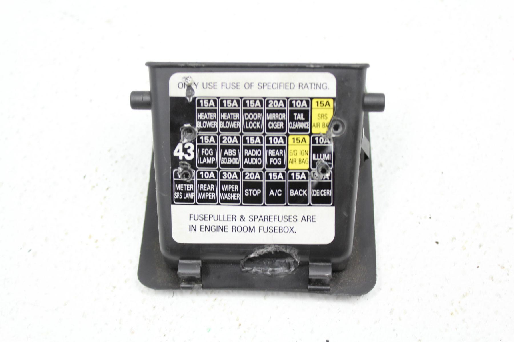 2002-2005 subaru impreza wrx & sti under dash interior fuse box ... 2002 subaru wrx fuse box location  subieautoparts.com